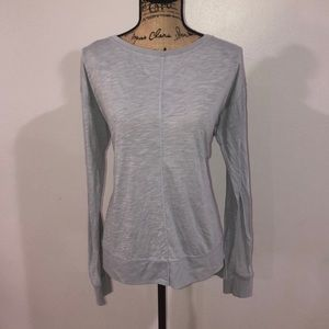 Relaxed fit long sleeve top